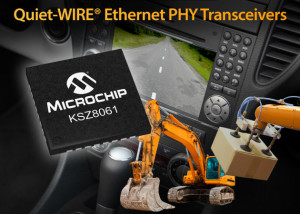 Quiet-WIRE KSZ8061 Ethernet-IC from Microchip for demanding environments