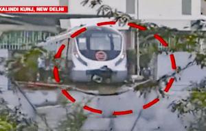 Early prang dents driverless train