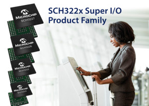New SCH322X I/O-controllers from Microchip