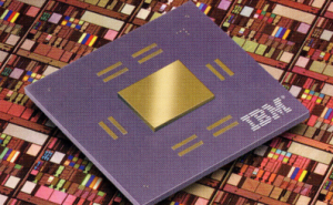 "World's first ""copper chip"" is a fully functional CMOS 7S microprocessor module on top of a copper wafer. Source: IBM"