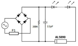 2-pin constant-current regulator handles up to 400 V
