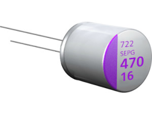 Conductive polymer aluminium solid capacitors benefit from high ripple current and low ESR values