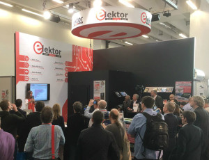 Picture: Elektor booth 2017 is looking forward to see you again