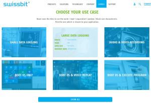 Swissbit Product Finder use case entry (Image: Swissbit)