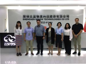 From left to right: Lynn Liu (BDM, Minew), Johnson Zhang (CMO, Minew), Bernd Hantsche (Director Product Marketing, Rutronik), Lan Hong (BDM, Rutronik), Dodo Deng (PSM, Rutronik), Emma He (Sales, Minew), Felix Graf (PSM, Rutronik)