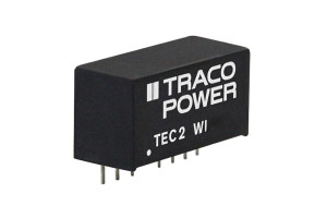 Distrelec adds Traco Power's TEC 2 and 3 (WI) Series next-generation 2 and 3 Watt SIP-8 DC/DC converters to web shop