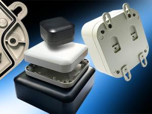 Hammond introduces the stylish new 1557 IP68 wall mount/desktop plastic enclosure family