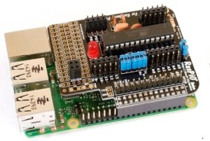 The RasPiO Duino mounted on an RPi