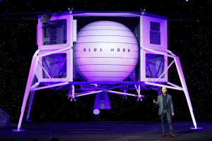Amazon Boss Jeff Bezos Presents Lunar Lander