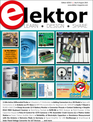 Elektor's July & August 2015 edition is now available