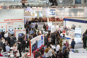 Exhibition stands at electronica