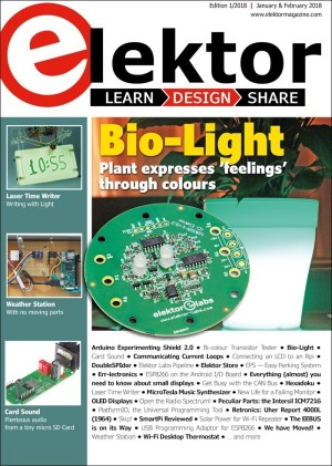 Elektor Magazine edition 1/2018 released