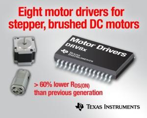 Acht neue Motortreiber von TI für Gleichstrom- und Schrittmotoren