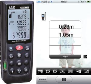 Laser-Entfernungsmessgerät mit Bluetooth