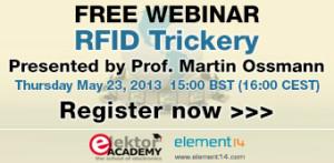 Jetzt anmelden: GRATIS-Webinar ''RFID Trickery'' am 23.05.2013