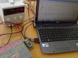 Einfache Laufschrift mit LEDs und mbed