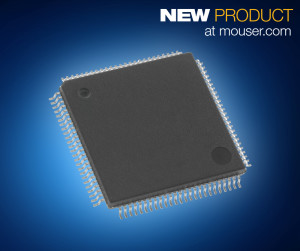 The Cypress FM4 S6E2H-Series microcontrollers, available from Mouser Electronics, are based on a 540 CoreMark®, 160-MHz ARM® Cortex®-M4 CPU core.