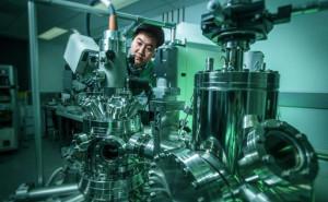 Hochvakuum für Silicen übertrifft den Raum in der Höhe der ISS um den Faktor 100. Bild: University of Wollongong.