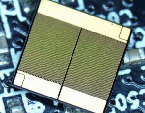 GaN-Die mit zwei HETs und zwei Freilaufdioden: Bild: Fraunhofer IAF