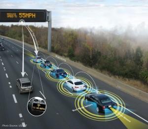 Platooning ist vielleicht eine gute Idee, aber die aktuellen Fahrzeuge sind noch nicht zuverlässig genug (Foto: USDOT/Wikipedia).