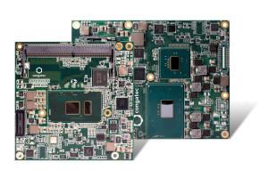 Die Intel Celeron Prozessor basierten COM Express Basic und Compact Module kombinieren kostengünstige Dualcore CPU-Performance mit neuesten Features wie K4 Multiscreen-Support, schnellem DDR4 RAM mit größerer Bandbreite und vier USB 3.0 Ports.