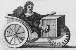Rollstuhlskizze von Stefan Farler (1655, Bild: gemeinfrei).