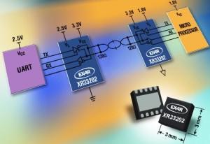 Das IC XR33202 kann mit unterschiedlichen Logik-Pegeln umgehen