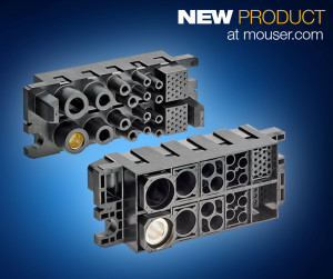 The new TE Connectivity's modular high-power FORGE drawer connectors available from Mouser.