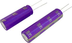 Die Doppelschichtkondensatoren bieten einen niedrigen Widerstand in Kombination mit einer garantiert langen Lebensdauer über einen Temperaturbereich von -40 °C bis +65 °C.