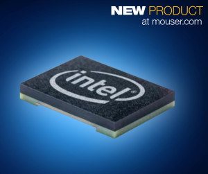 The Intel Curie module, now available from Mouser Electronics, features a 32-bit Intel Quark SE SoC with 384 kBytes of flash memory and 80 kBytes of SRAM.