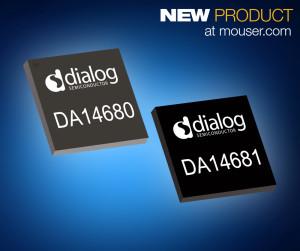 Die jetzt bei Mouser Electronics erhältlichen Wearable-on-Chips DA14680 und DA14681 aus der Dialog-Produktfamilie SmartBond™ sind kleine SoCs mit äußerst geringem Energiebedarf.
