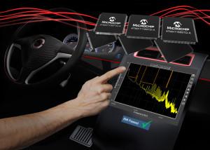 Neue kapazitive Touch-Controller ermöglichen eine  schnellere EMI-Qualifizierung von Automotive-Touchscreens