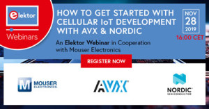 "Kostenloses Webinar ""How To Get Started With Cellular IoT Development with AVX and Nordic Semiconductor"""