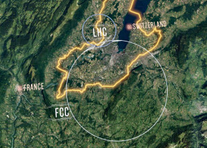 Der geplante FCC schneidet den LHC: Bild CERN.