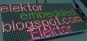 Journal défilant tricolore à LED réalisé en une journée