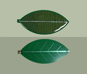 Plus vert que vert : cellule solaire en forme de feuille