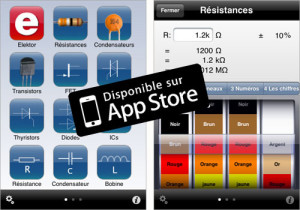 Application Electronic Toolbox d'Elektor sur iPad et iPhone : nouvelle version