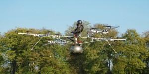 Premier vol habité d'un hélicoptère multirotor électrique