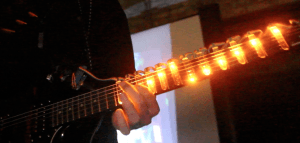 Tablatures lumineuses pour guitare