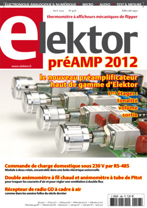 Parution imminente : Elektor n. 406, avril 2012