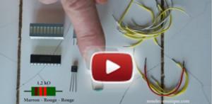 Thermomètre à 10 LED : nouvelle vidéo d'initiation de Rémy Mallard