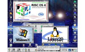 RISC OS4 - Capture d'écran par Richard Butler.