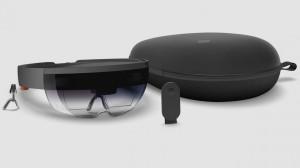Le kit HoloLens vu sans casque de réalité augmentée.