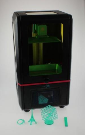 Banc d'essai de l'AnyCubic Photon dans le labo d'Elektor.