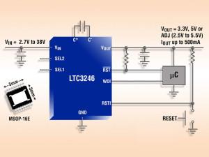 Pompe de charge en mode abaisseur-élévateur avec minuteries de chien de garde et de réinitialisation intégrées