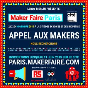 Maker Faire Paris 2019 : appel aux makers