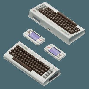 La nostalgie n'est plus ce qu'elle était : image virtuelle non pixelisée de l'ordinateur et de la console THE 64™.