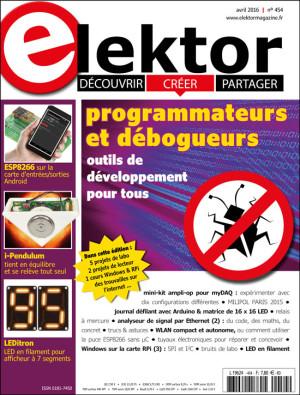 Le nouveau numéro d'Elektor (avril 2016) vient de paraître