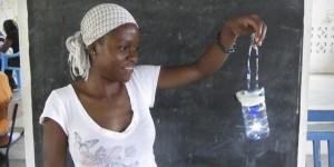 Zelfbouw-solarlamp voor ontwikkelingslanden