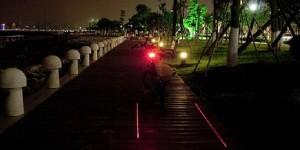 Veiliger fietsen met laserstrepen
